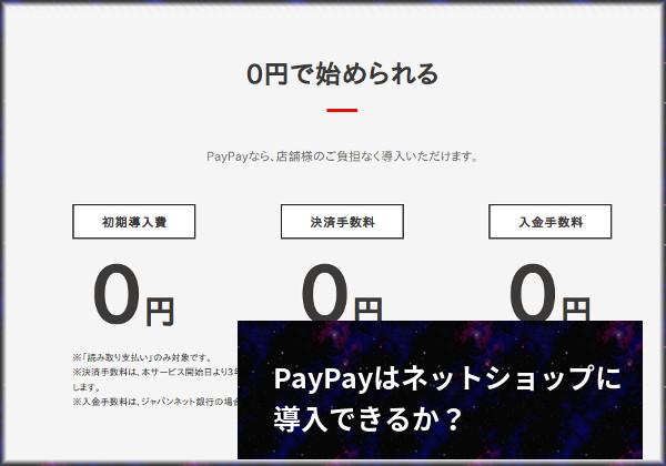 paypay ネットショップ