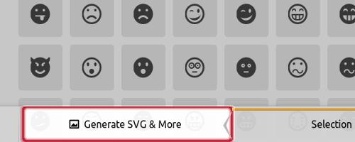 icomoonでsvgファイルをダウンロードします