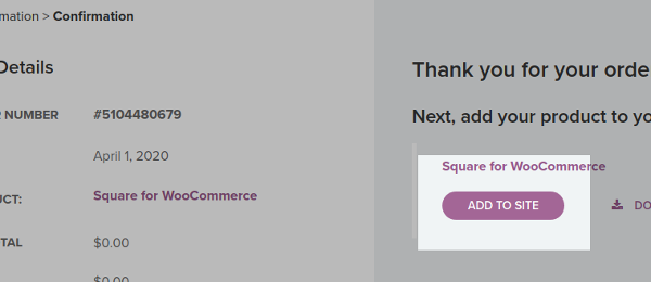 Checkout-square for woo commerce